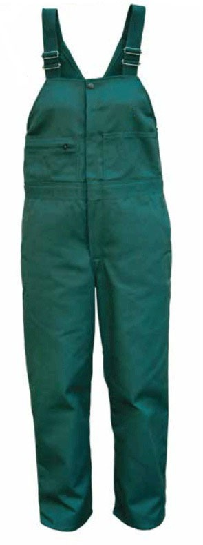 Women's Spruce Green Twill Unlined Bibs - Blank