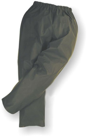 Forest Green Flexothane Waist Rain Pant with Ankle Snaps