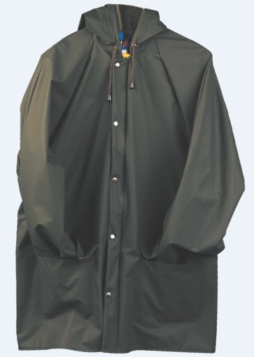 Flexothane Hooded Rain Jacket with Hood Snaps - Forest Green